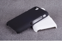 Фирменная задняя панель-крышка-накладка из тончайшего и прочного пластика для Blackberry Q5 черная