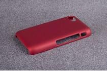 Фирменная задняя панель-крышка-накладка из тончайшего и прочного пластика для Blackberry Q5 красная