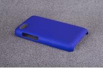 Фирменная задняя панель-крышка-накладка из тончайшего и прочного пластика для Blackberry Q5 синяя