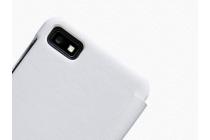 Официальный оригинальный чехол книжка Flip Shell Case с логотипом для Blackberry Z10 / BlackBerry Porsche Design P'9982 и магнитным датчиком белого цвета