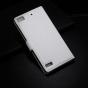 Фирменный чехол-книжка из качественной импортной кожи с подставкой застёжкой и визитницей для BlackBerry Z3 бе..