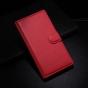 Фирменный чехол-книжка из качественной импортной кожи с подставкой застёжкой и визитницей для BlackBerry Z3 кр..