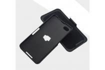 Противоударный усиленный ударопрочный фирменный чехол-бампер-пенал с клипсой на пояс для Blackberry Z30 черный