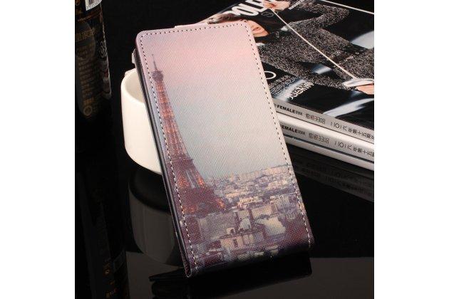 Фирменный вертикальный откидной чехол-флип для  Blackview A5 Тематика Эйфелева башня.
