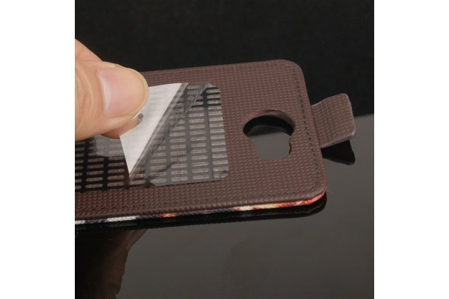 Фирменный вертикальный откидной чехол-флип для  Blackview A5 Тематика Электические узоры