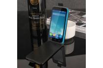 Фирменный вертикальный откидной чехол-флип для Blackview A5 Золотое Цветение  голубой