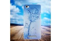 Фирменная роскошная задняя панель-чехол-накладка  из мягкого силикона с безумно красивым расписным 3D рисунком тематика Водяная роза на Blackview A8 Max