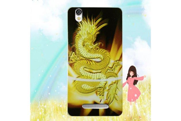 Фирменная роскошная задняя панель-чехол-накладка  из мягкого силикона с безумно красивым расписным 3D рисунком на Blackview A8 тематика Китайский дракон