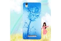 Фирменная роскошная задняя панель-чехол-накладка  из мягкого силикона с безумно красивым расписным 3D рисунком на Blackview A8 тематика Водяная роза