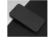 Фирменный чехол-обложка с подставкой для Blackview R6 Lite черный кожаный