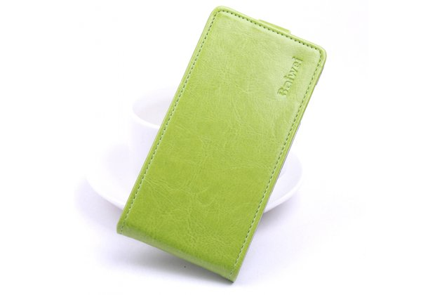 Фирменный оригинальный вертикальный откидной чехол-флип для Blackview Ultra A6 /Ultra Plus A6S зеленый из натуральной кожи Prestige