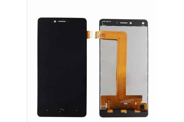 Фирменный LCD-ЖК-сенсорный дисплей-экран-стекло с тачскрином на телефон BQ Aquaris U Lite черный + гарантия