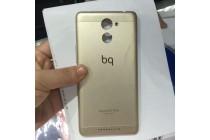 Родная оригинальная задняя крышка-панель которая шла в комплекте для BQ Aquaris U Lite золотого цвета