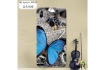 Фирменная роскошная задняя панель-чехол-накладка из мягкого силикона с объемным  3D изображением  на BQ Aquaris X5 Plus c с безумно красивым рисунком  Тематика Синяя бабочка