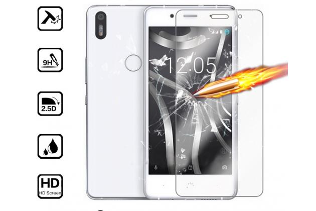 Фирменное защитное закалённое противоударное стекло премиум-класса из качественного японского материала с олеофобным покрытием для телефона BQ BQS-5020 Strike / BQ Mobile BQS-5020 Strike