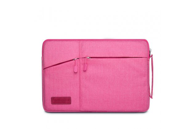 Чехол-сумка-бокс для CHUWI Hi12 с отделением для дополнительных аксессуаров из высококачественного материала розового цвета