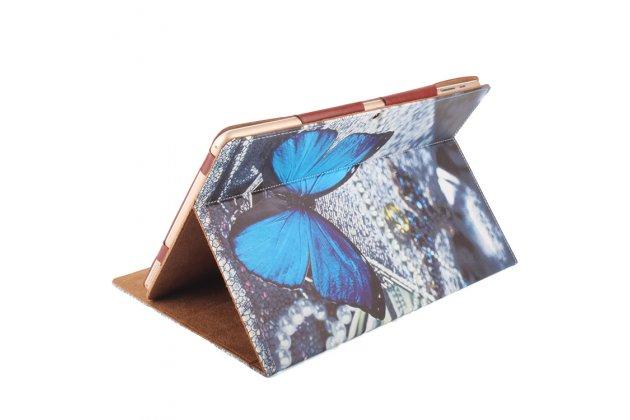 Фирменный чехол-обложка с безумно красивым расписным рисунком Радужные бабочки  для планшета CHUWI Hi12 кожаный