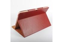 Фирменный оригинальный чехол обложка с подставкой для CHUWI Hi12 коричневый кожаный