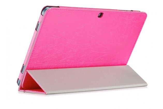 Фирменный чехол-футляр-книжка для Cube Mix Plus розовый кожаный
