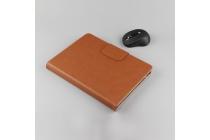Фирменный оригинальный чехол со съёмной Bluetooth-клавиатурой для Cube T8 Ultimate / T8 Plus коричневый кожаный + гарантия