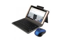 Фирменный оригинальный чехол со съёмной Bluetooth-клавиатурой для Cube T8 Ultimate / T8 Plus черный кожаный + гарантия