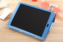 """Фирменный оригинальный чехол-обложка для Cube Talk 9X 9.7"""" (U65GT)"""" с вырезом под камеру голубой"""
