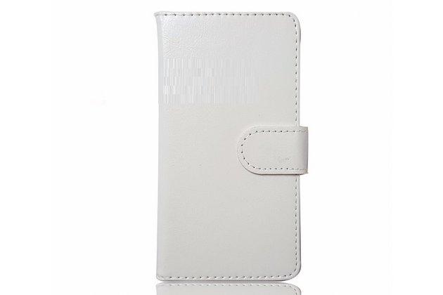Фирменный чехол-книжка из качественной импортной кожи с подставкой застёжкой и визитницей для CUBOT Cheetahphone белый