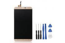 Фирменный LCD-ЖК-сенсорный дисплей-экран-стекло с тачскрином на телефон CUBOT Dinosaur золотой + гарантия