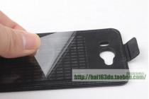 Фирменный оригинальный вертикальный откидной чехол-флип для CUBOT GT72 черный из натуральной кожи Prestige Италия