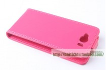 Фирменный оригинальный вертикальный откидной чехол-флип для CUBOT GT72 розовый из натуральной кожи Prestige Италия