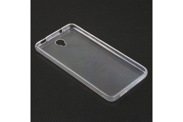 Фирменная ультра-тонкая полимерная из мягкого качественного силикона задняя панель-чехол-накладка для Cubot Max белая