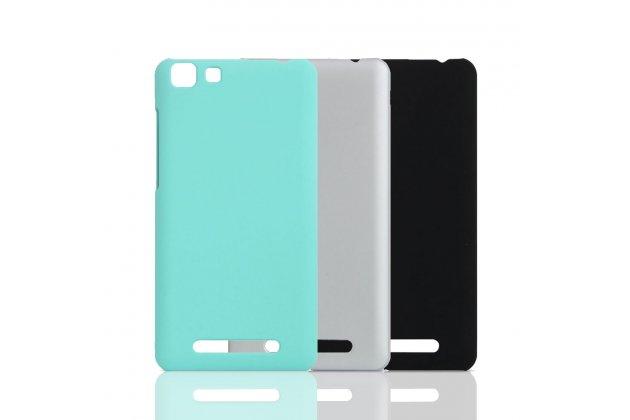 Фирменная ультра-тонкая пластиковая задняя панель-чехол-накладка для CUBOT Rainbow голубая