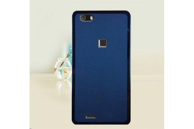 Фирменная ультра-тонкая полимерная из мягкого качественного силикона задняя панель-чехол-накладка для CUBOT S550 синяя
