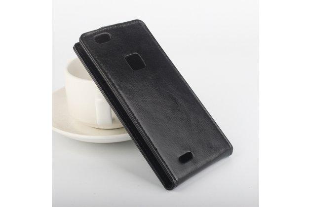 Фирменный оригинальный вертикальный откидной чехол-флип для CUBOT S550 черный из натуральной кожи тематика Золотое Цветение