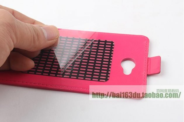 Фирменный оригинальный вертикальный откидной чехол-флип для CUBOT T9 розовый из натуральной кожи Prestige Италия