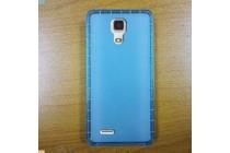 Фирменная ультра-тонкая полимерная из мягкого качественного силикона задняя панель-чехол-накладка для CUBOT Z100 голубая