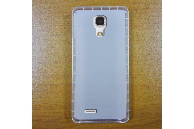 Фирменная ультра-тонкая полимерная из мягкого качественного силикона задняя панель-чехол-накладка для CUBOT Z100 белая
