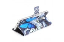 Фирменный уникальный необычный чехол-подставка для CUBOT Z100  тематика Голубая Бабочка