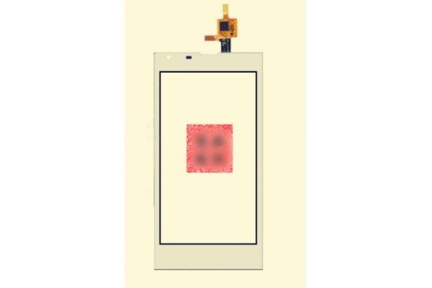 Фирменное сенсорное стекло-тачскрин на DEXP Ixion ES145 Life белый и инструменты для вскрытия + гарантия