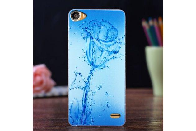 """Фирменная роскошная задняя панель-чехол-накладка  из мягкого силикона с безумно красивым расписным 3D рисунком на Doogee F3/F3 Pro тематика """"водяная роза"""""""