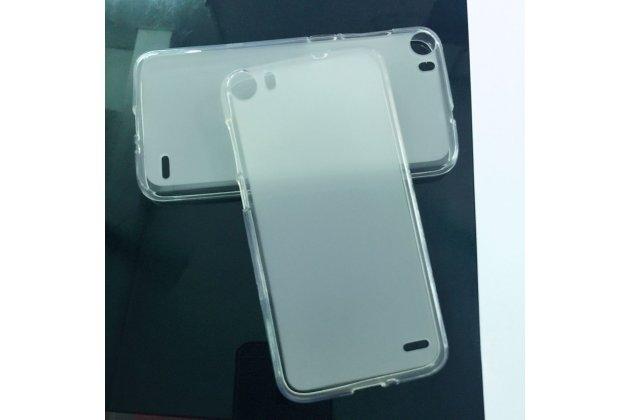 Фирменная ультра-тонкая полимерная из мягкого качественного силикона задняя панель-чехол-накладка для Doogee F3/F3 Pro белая