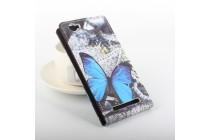"""Фирменный вертикальный откидной чехол-флип для DOOGEE Homtom HT6 """"тематика радужные Бабочки"""""""