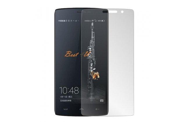 Фирменное защитное закалённое противоударное стекло премиум-класса из качественного японского материала с олеофобным покрытием для телефона DOOGEE Homtom HT7/ HT7 Pro