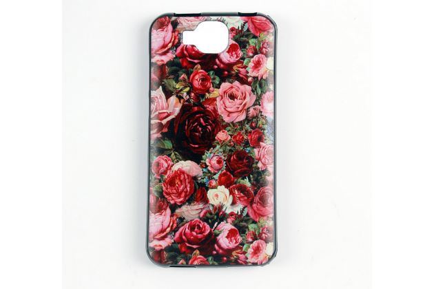 Фирменная роскошная задняя панель-чехол-накладка  из мягкого силикона с безумно красивым расписным 3D рисунком на Doogee X9 Mini тематика Королевские розы