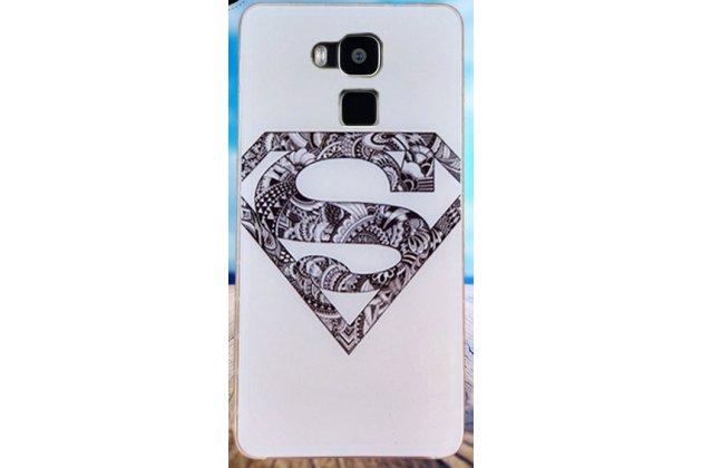 Фирменная ультра-тонкая полимерная из мягкого качественного силикона задняя панель-чехол-накладка для Doogee Y6 супермен