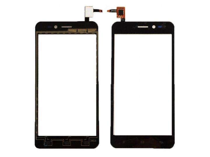 Фирменное сенсорное-стекло-тачскрин на Explay A500 черный + инструменты для вскрытия + гарантия..