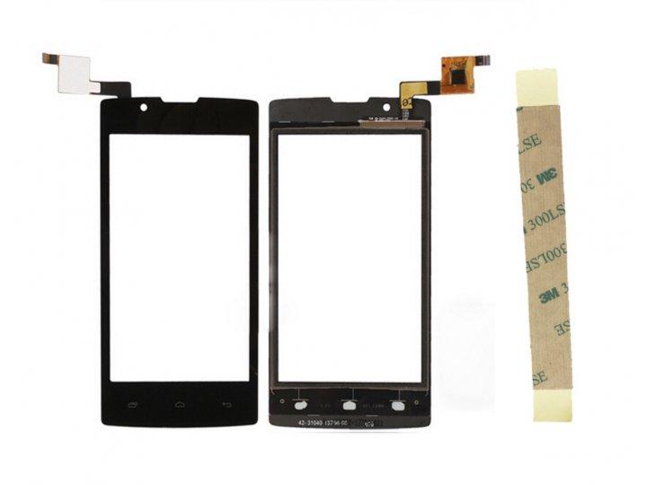 Фирменное сенсорное-стекло-тачскрин на Fly FS405 Stratus 4 черный + инструменты для вскрытия + гарантия..