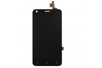 Фирменный LCD-ЖК-сенсорный дисплей-экран-стекло с тачскрином на телефон Fly Nimbus 8 FS454 черный + гарантия