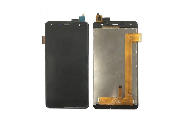 Фирменный LCD-ЖК-сенсорный дисплей-экран-стекло в сборе с тачскрином на телефон Fly FS517 Cirrus 11 черный + гарантия
