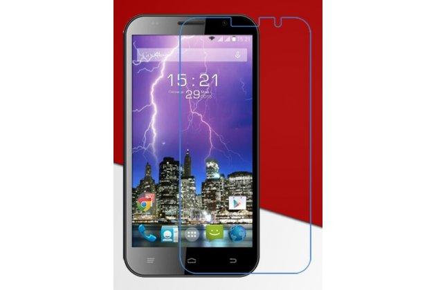 Фирменное защитное закалённое противоударное стекло премиум-класса из качественного японского материала с олеофобным покрытием для телефона Fly FS551 Nimbus 4